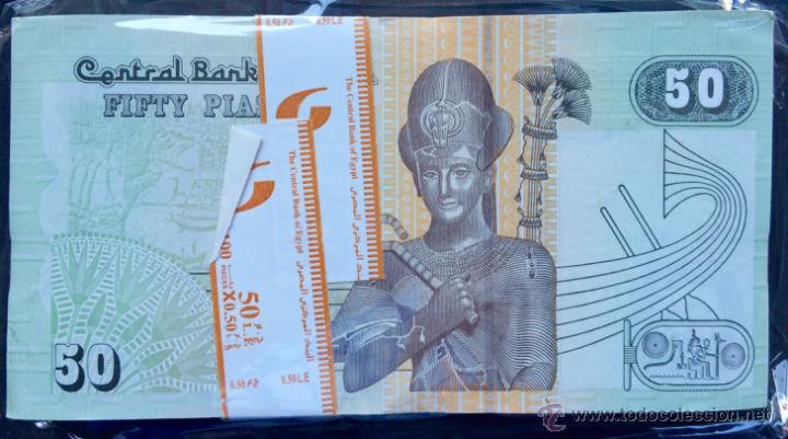 Lotes de Billetes: SMG LOTE 100 BILLETES EXTRANJEROS 50 PIASTRAS EGIPTO - Foto 2 - 121419692