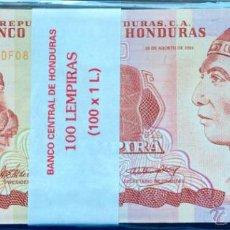 Lotes de Billetes: LOTE 100 BILLETES 1 LEMPIRA HONDURAS. Lote 166855588