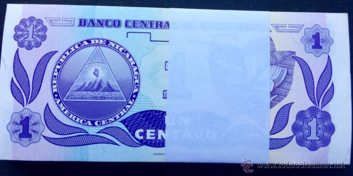 Lotes de Billetes: Lote 100 billetes 1 centavo Nicaragua - Foto 2 - 113934370