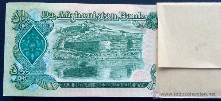 Lotes de Billetes: Lote 100 billetes 500 afghanis Afghanistan - Foto 2 - 75126363