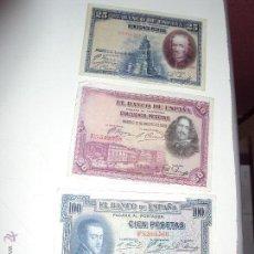 Lotes de Billetes: 3 BILLETES DEL REINADO DE ALFONSO XIII. Lote 50205880