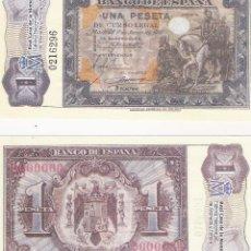 Lotes de Billetes: 1 PESETA - 1/6/1940 - FACSIMIL IMPRESO POR LA REAL CASA DE LA MONEDA Y TIMBRE -. Lote 206508198