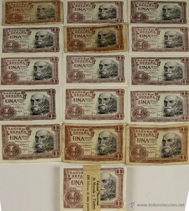 BI-046 - LOTE DE 115 BILLETES DE 1 PESETA. BANCO DE ESPAÑA. 1953. (Numismática - Notafilia - Series y Lotes)