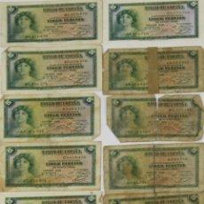 Lotes de Billetes: BI-036 - LOTE DE 14 BILLETES DE 5 PESETAS. BANCO DE ESPAÑA. EMISIÓN 1935.. Lote 50318670