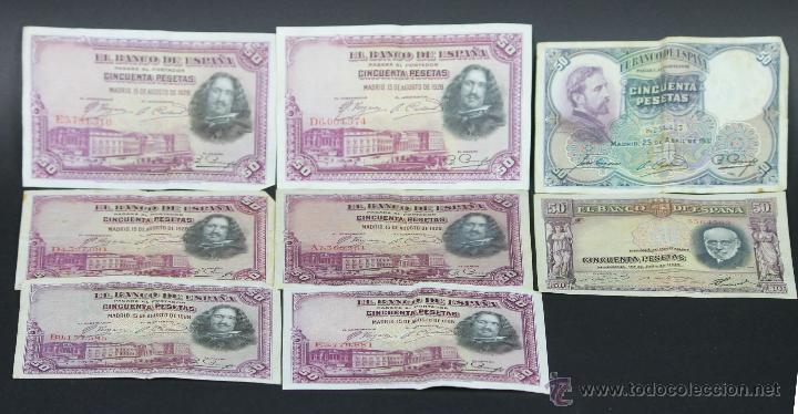 BI-038 - LOTE DE 8 BILLETES. VARIOS. (VER DESCRIPCIÓN). ESPAÑA. 1928-1935. (Numismática - Notafilia - Series y Lotes)