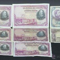 Lotes de Billetes: BI-038 - LOTE DE 8 BILLETES. VARIOS. (VER DESCRIPCIÓN). ESPAÑA. 1928-1935.. Lote 54929666