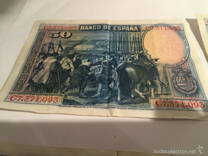 Lotes de Billetes: 3 billetes de 50 pesetas de 15 agosto de 1928 MBC - Foto 8 - 55685012