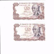 Lotes de Billetes: ESPAÑA PAREJA DE BILLETES DE 100 PTAS. MANUEL DE FALLA, SIN CIRCULAR, EN PLANCHA Y CORRELATIVOS. Lote 56591726
