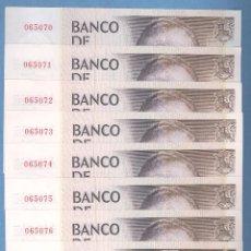 Lotes de Billetes: LOTE DE 8 BILLETES 5000 PESETAS SIN SERIE - NUMERACIÓN CONSECUTIVA (1979). Lote 57876681