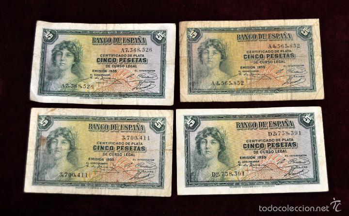 Lotes de Billetes: LOTE DE 38 BILLETES ESPAÑOLES DE DISTINTOS VALORES - Foto 2 - 130469816