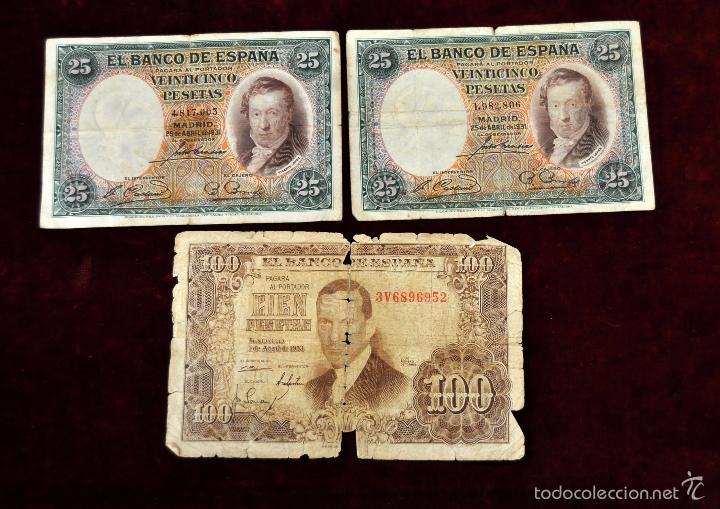 Lotes de Billetes: LOTE DE 38 BILLETES ESPAÑOLES DE DISTINTOS VALORES - Foto 6 - 130469816