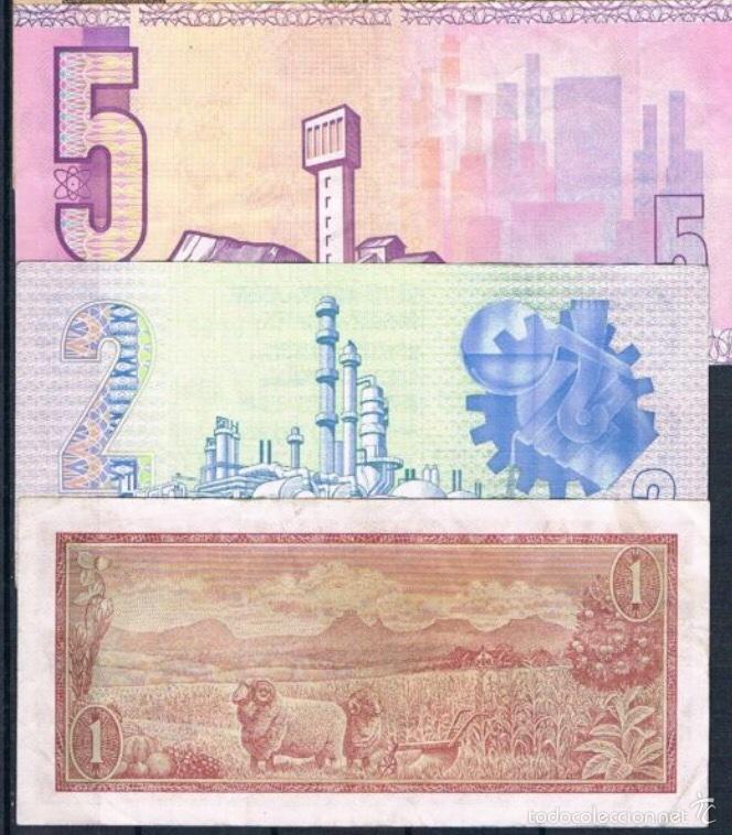 Lotes de Billetes: 3 billetes south África 1,2,5 rand 1961 / 1977 muy raros ref 642 - Foto 2 - 90450117