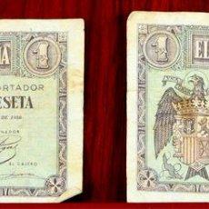Lotes de Billetes: BI-058 - LOTE DE 2 BILLETES DE 1 PESETA. EL BANCO DE ESPAÑA. BURGOS. 1938.. Lote 60329211