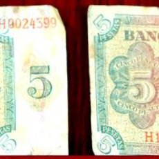 Lotes de Billetes: BI-059 - LOTE DE 2 BILLETES DE 5 PESETAS. EL BANCO DE ESPAÑA. BURGOS. 1938.. Lote 60330495