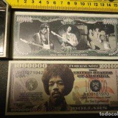 Lotes de Billetes: BILLETE CONMEMORATIVO DOLARES DOLAR - MUSICA - JIMI HENDRIX - ROCK. Lote 196824050