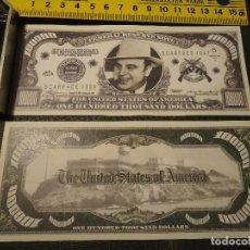 Lotes de Billetes: BILLETE CONMEMORATIVO DOLARES DOLAR - ALCATRAZ . GANSTER SERIE - AL CAPONE. Lote 63012136