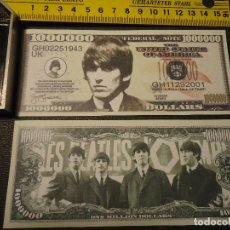 Lotes de Billetes: BILLETE CONMEMORATIVO DOLARES DOLAR - MUSICA - THE BEATLES - ROCK - GEORGE HARRISON. Lote 63013596