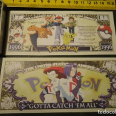 Lotes de Billetes: BILLETE CONMEMORATIVO DOLARES DOLAR - POKEMON - GOTTA CATCH ´EM ALL. Lote 144390637
