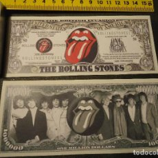 Lotes de Billetes: BILLETE CONMEMORATIVO DOLARES DOLAR - MUSICA - THE ROLLING STONES WE TRUST. Lote 236113725