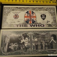 Lotes de Billetes: BILLETE CONMEMORATIVO DOLARES DOLAR - MUSICA - THE WHO , LONG LIVE ROCK . Lote 140354685