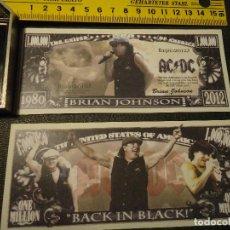 Lotes de Billetes: BILLETE CONMEMORATIVO DOLARES DOLAR - MUSICA AC DC BRIAN JOHNSON . Lote 63015456