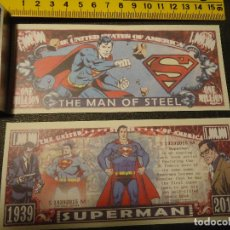 Lotes de Billetes: BILLETE CONMEMORATIVO DOLARES DOLAR - CINE - SUPERMAN SUPER MAN . THE MAN OF STEEL . Lote 161298274