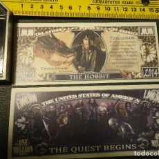 Lotes de Billetes: BILLETE CONMEMORATIVO DOLARES DOLAR - CINE - THE QUEST BEGINS . THE HOBBIT . Lote 161298302