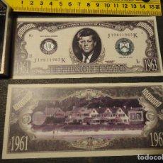 Lotes de Billetes: BILLETE CONMEMORATIVO DOLARES DOLAR - PRESIDENTE ESTADOS UNIDOS - JOHN F. KENNEDY . Lote 90071416
