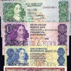 Lotes de Billetes: SOUTH AFRICA SET 1,2,5,10 RAND 1967 REF 7636. Lote 105030275