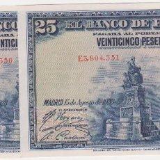Lotes de Billetes: BILLETES ESPAÑOLES-ALFONSO XIII - 25 PESETAS 1928 (SERIE E). Lote 67434617