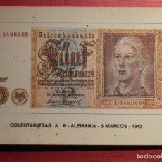 Lotes de Billetes: COLECCIÓN DE 35 POSTALES - BILLETES DEL MUNDO - COLECTARJETAS - SERIE A - EUROHOBBY - SIN ESCRIBIR -. Lote 75559759