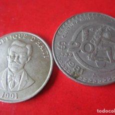 Lotes de Billetes: LOTE DE 2 MONEDAS MEXICO Y HAITI. Lote 78105917