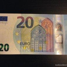 Lotes de Billetes: BILLETE 20 EURO ESPAÑA. V001A1 PRIMERA PLANCHA . UNC. FIRMA MARIO DRAGHI. Lote 95967490