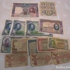 Lotes de Billetes: LOTE DE 16 BILLETES VARIADO CIRCULADO DE BILLETES ESPAÑOLES. Lote 96031515