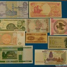 Lotes de Billetes: LOTE 10 BILLETES SC: BIELORRUSIA, PAKISTAN, EGIPTO, INDONESIA, CHIN, NICARAGUA, KIRGUISTAN, MONGOLIA. Lote 114323635