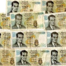 Lotes de Billetes: LOTE 20 BILLETES BELGICA 20 FRANCOS 1964 - 3 FIRMAS DIFERENTES. Lote 101163783