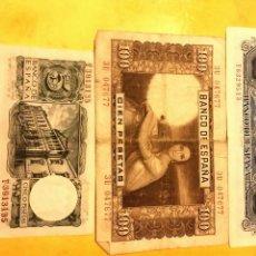 Lotes de Billetes: EXCELENTE COLECCION DE 4 BILLETES ANTIGUOS. Lote 107237894