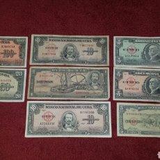 Lotes de Billetes: LOTE DE 8 BILLETES DIFERENTES DE CUBA. Lote 112214939