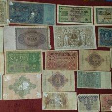 Lotes de Billetes: LOTE DE 22 BILLETES DIFERENTES ALEMANIA Y AUSTRIA. Lote 112215351
