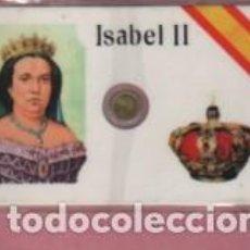 Lotes de Billetes: MINI MONEDA PLASTIFICADA ISABEL II. Lote 112859571