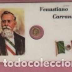 Lotes de Notas: MINI MONEDA PLASTIFICADA VENUSTIANO CARRANZA DE MEJICO MEXICO. Lote 112859943