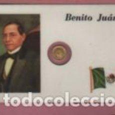 Lotes de Billetes: MINI MONEDA PLASTIFICADA BENITO JUÁREZ DE MEJICO MEXICO. Lote 112860079