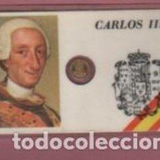 Lotes de Billetes: MINI MONEDA PLASTIFICADA CARLOS III CONOCIDO COMO MEJOR ALCALDE DE MADRID. Lote 112861159