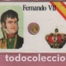 Lotes de Billetes: MINI MONEDA PLASTIFICADA FERNANDO VII - REY DE ESPANA. Lote 112861387