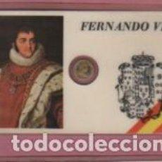Lotes de Billetes: MINI MONEDA PLASTIFICADA FERNANDO VII - REY DE ESPANA. Lote 112861515