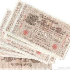 Lotes de Billetes: LOTE 10 BILLETES IMPERIO ALEMÁN DEL II REICH DATADOS EN 1910.. Lote 113018815