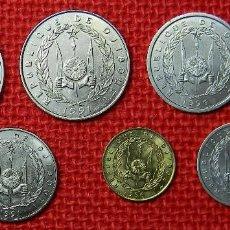 Lotes de Billetes: DJIBOUTI – LOTE 7 MONEDAS – SERIE COMPLETA – 100, 50, 20, 10, 5, 2 Y 1 FRANCOS – 1991 – 1996. Lote 113173487