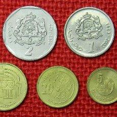 Lotes de Billetes: MARRUECOS – LOTE 8 MONEDAS – SERIE COMPLETA – 1997 – 2002 – 5, 2, 1 Y ½ DIRHAM – 20, 10, 5, 1 SANTIM. Lote 113173583