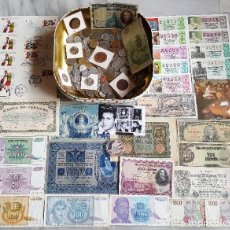 Lotes de Billetes: GRAN LOTE MONEDAS Y BILLETES, LOTERIA, SOBRES MUNDIAL ESPAÑA 1980 Y DONALD TRUMP PLATA. Lote 114528867