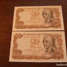 Lotes de Billetes: 2 BILLETES FALLA 1970 CORRELATIVOS. Lote 115375727